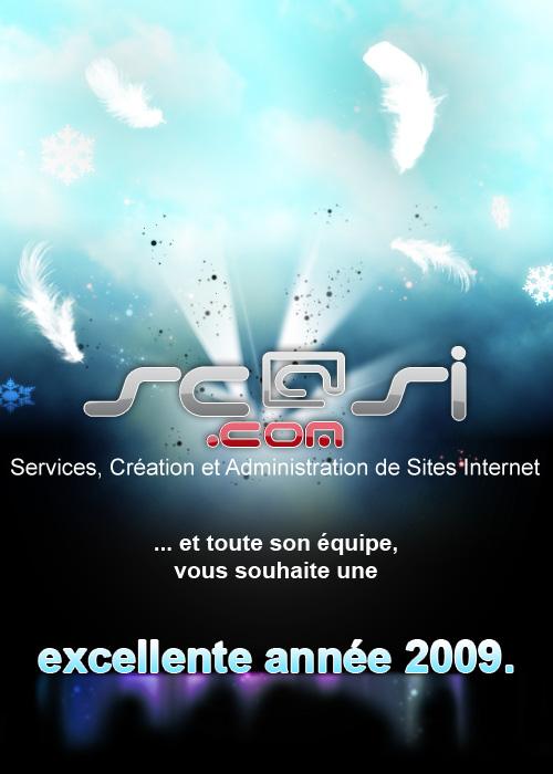 Scasi.com et toute son équipe vous souhaite une bonne et heureuse année 2009